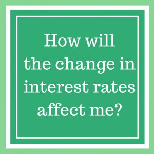 How will the change in interest rates affect me-