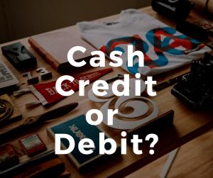 cash credit debit