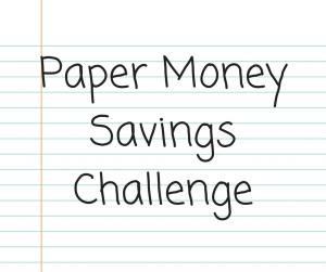 paper money savings challenge