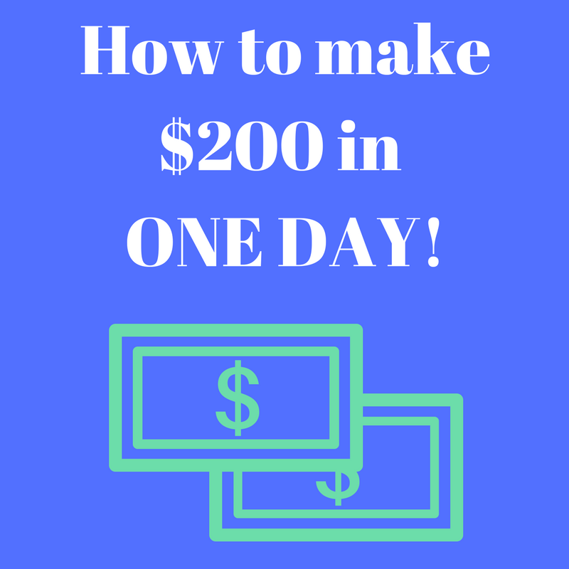 How to make 200 dollars in one day as a kid