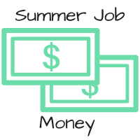 How should a student save summer job money?