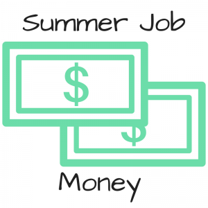 Summer job money