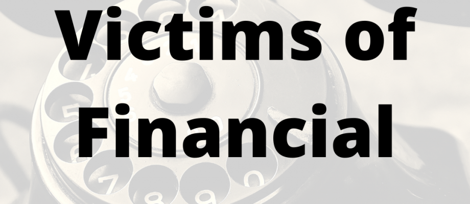 What to do if you fall victim to a financial scam?