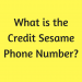 What is the Credit Sesame Phone Number?